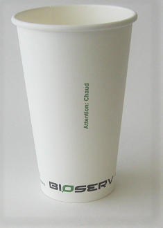 16 oz Single Wall Bioserv Hot Cup