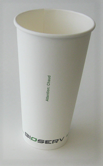 20 oz Single Wall Bioserv Hot Cup