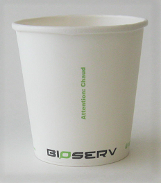 4 oz Single Wall Bioserv Hot Cup