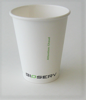 8 oz Single Wall Bioserv Hot Cup