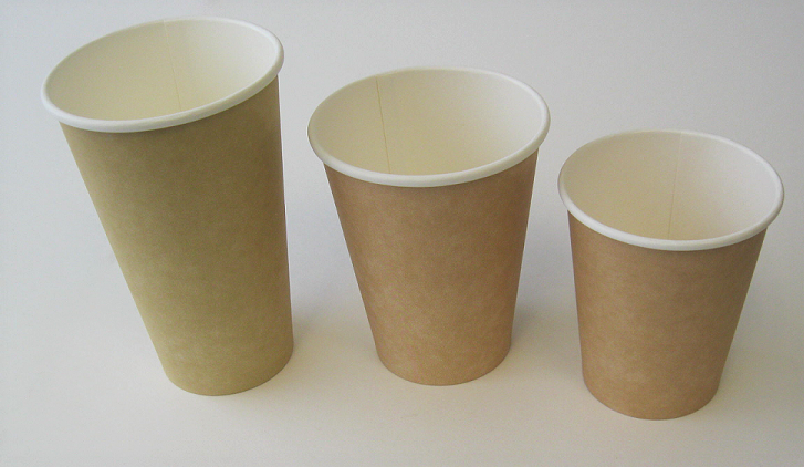 Plain Single Wall Kraft Hot Cup