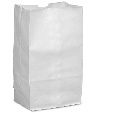3LB White Grocery Bag