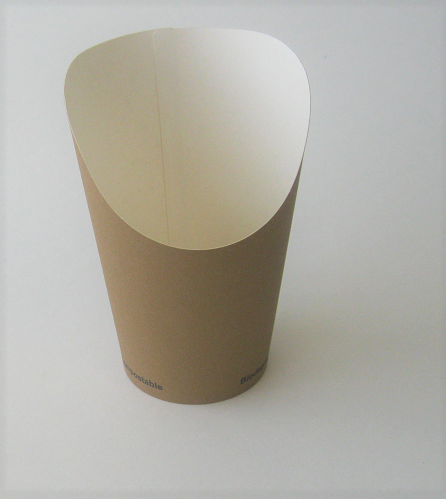 12oz Kraft Chip Cup PLA Lined