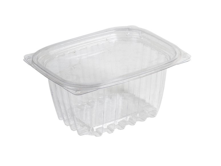 16oz PLA Rectangular Deli Container Hinged Lid