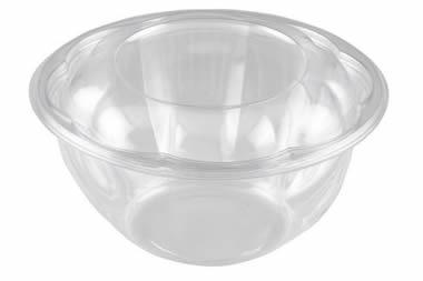 24 oz PLA Floral Salad Bowl